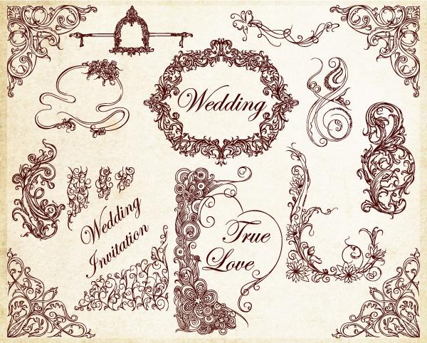 Free Wedding Vector Brushes Photoshop