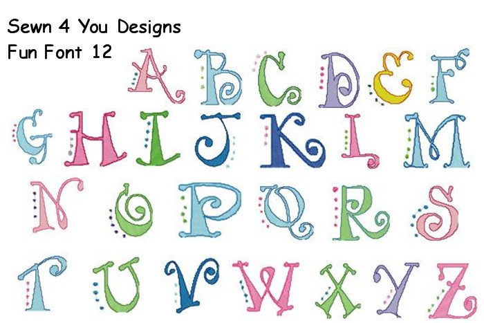 17 Funny Alphabet Fonts Images