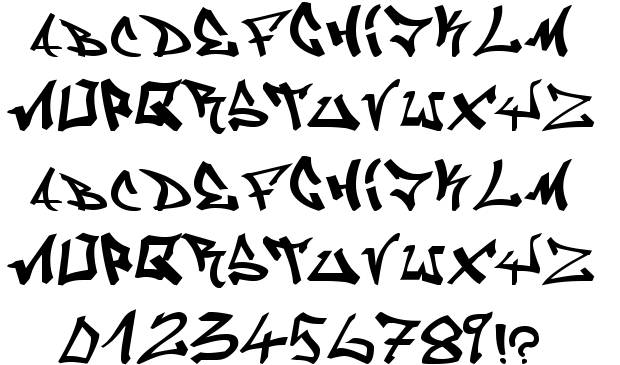 10 Graffiti Fonts Free Images