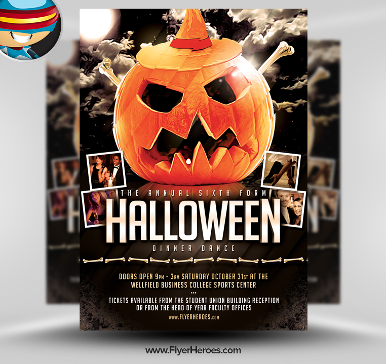 Halloween Dance Flyers Templates