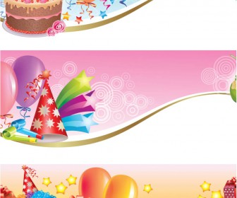 9 Happy Birthday Banner Vector Images