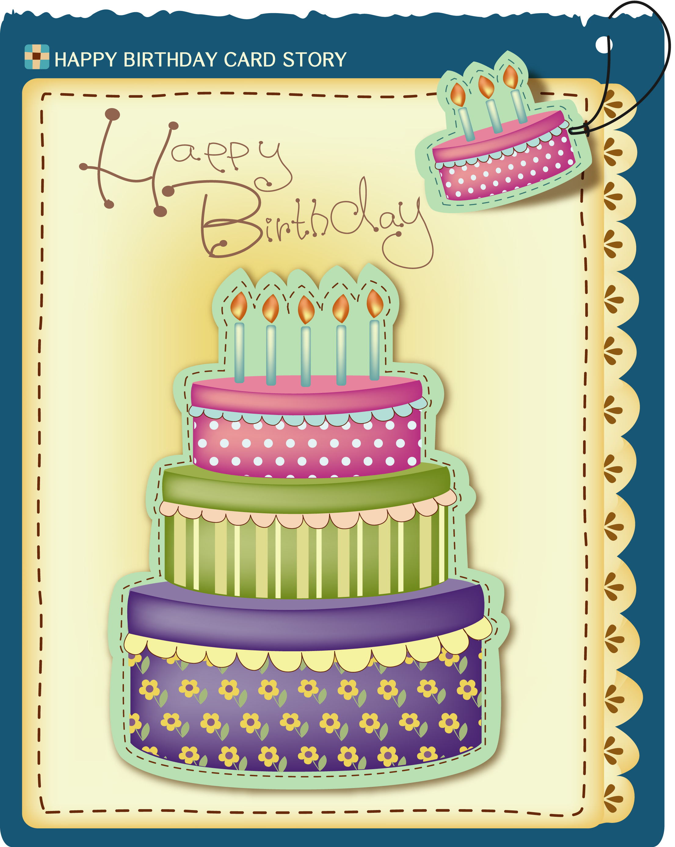 15 Simple Birthday Card Vector Images
