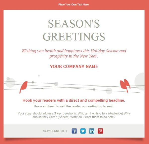 12 Holiday Email Design Images Free Email Christmas Greeting Cards