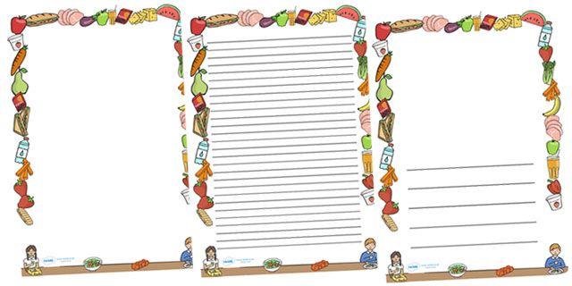 Healthy Food Page Border
