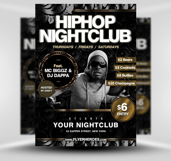 14 Hip Hop Flyer PSD Template Images