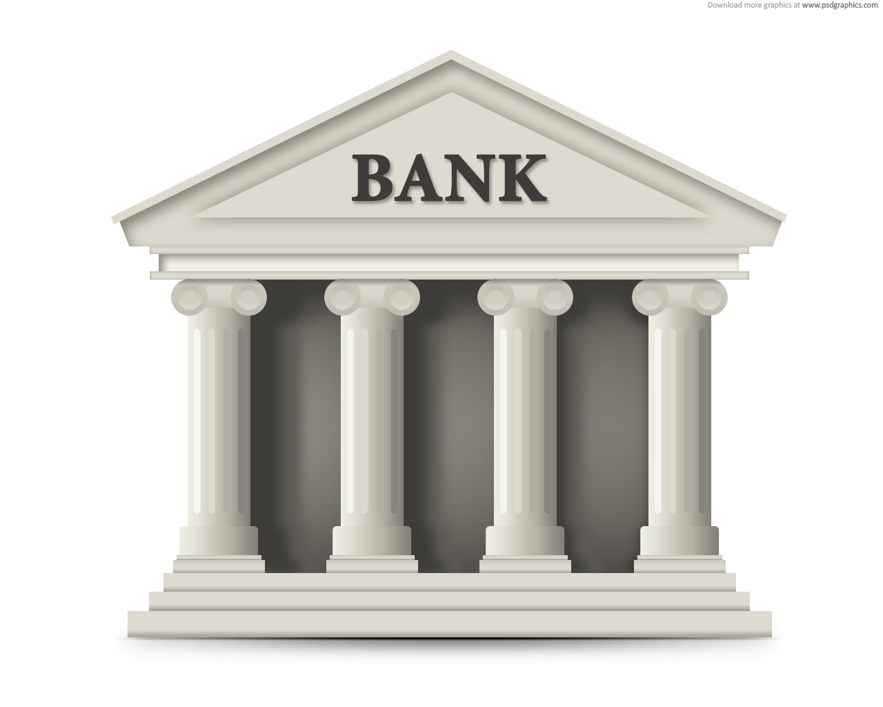 12 Bank Building Icon Images