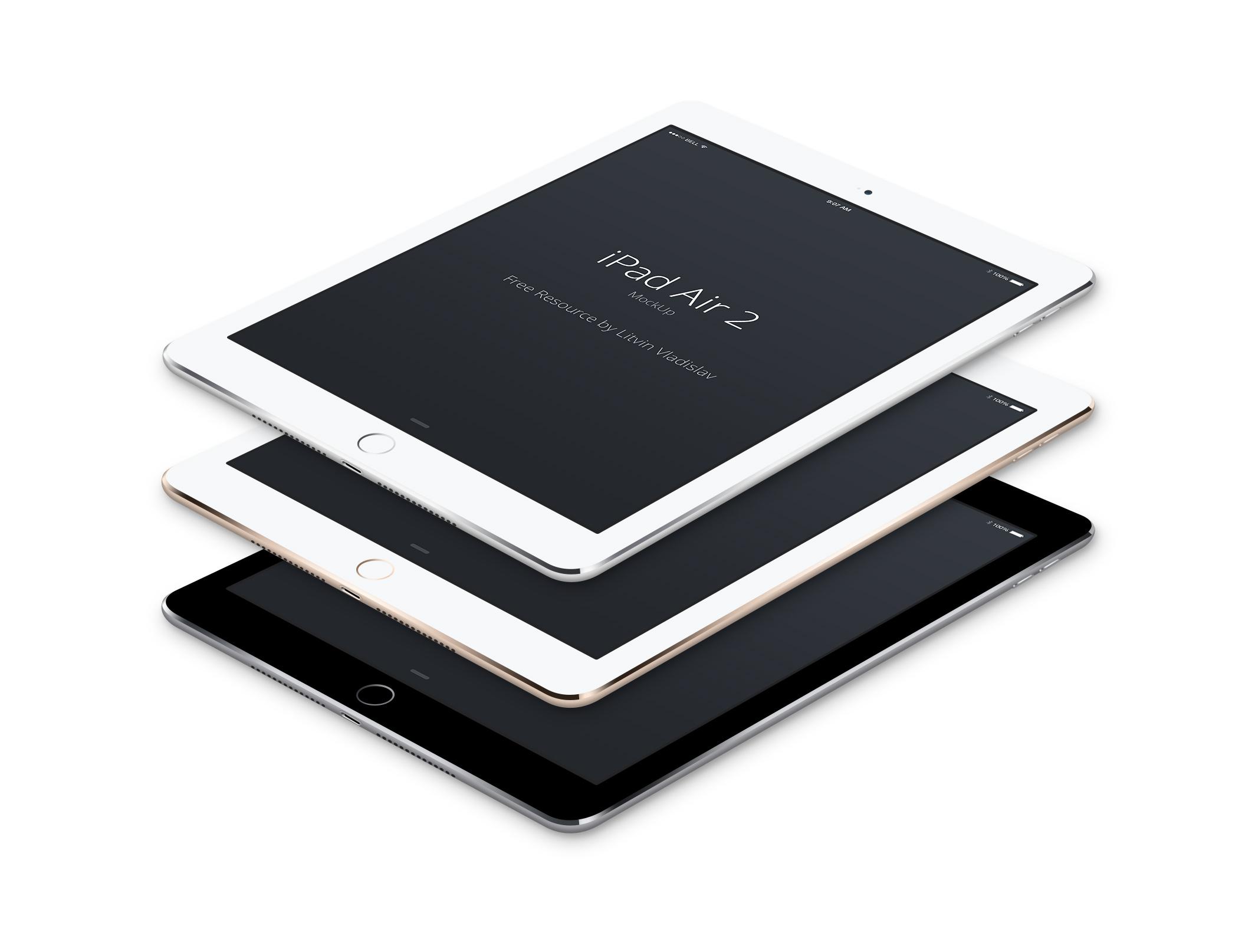 iPad Mockup Air Perspective