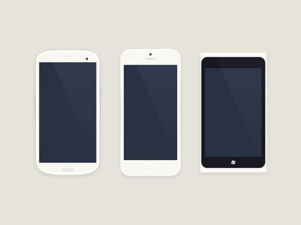 iPhone Android Windows Phone Design