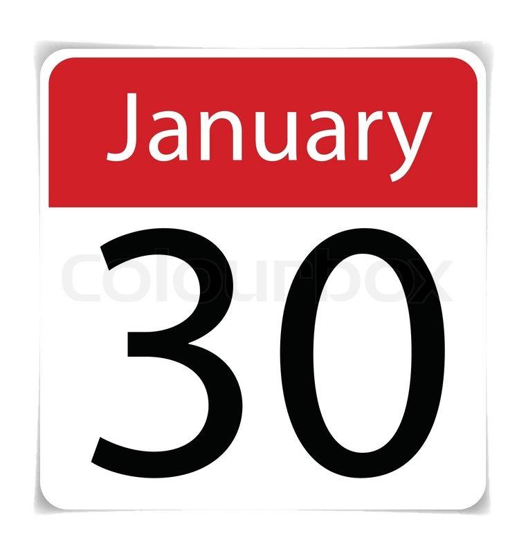 January 30th Calendar
