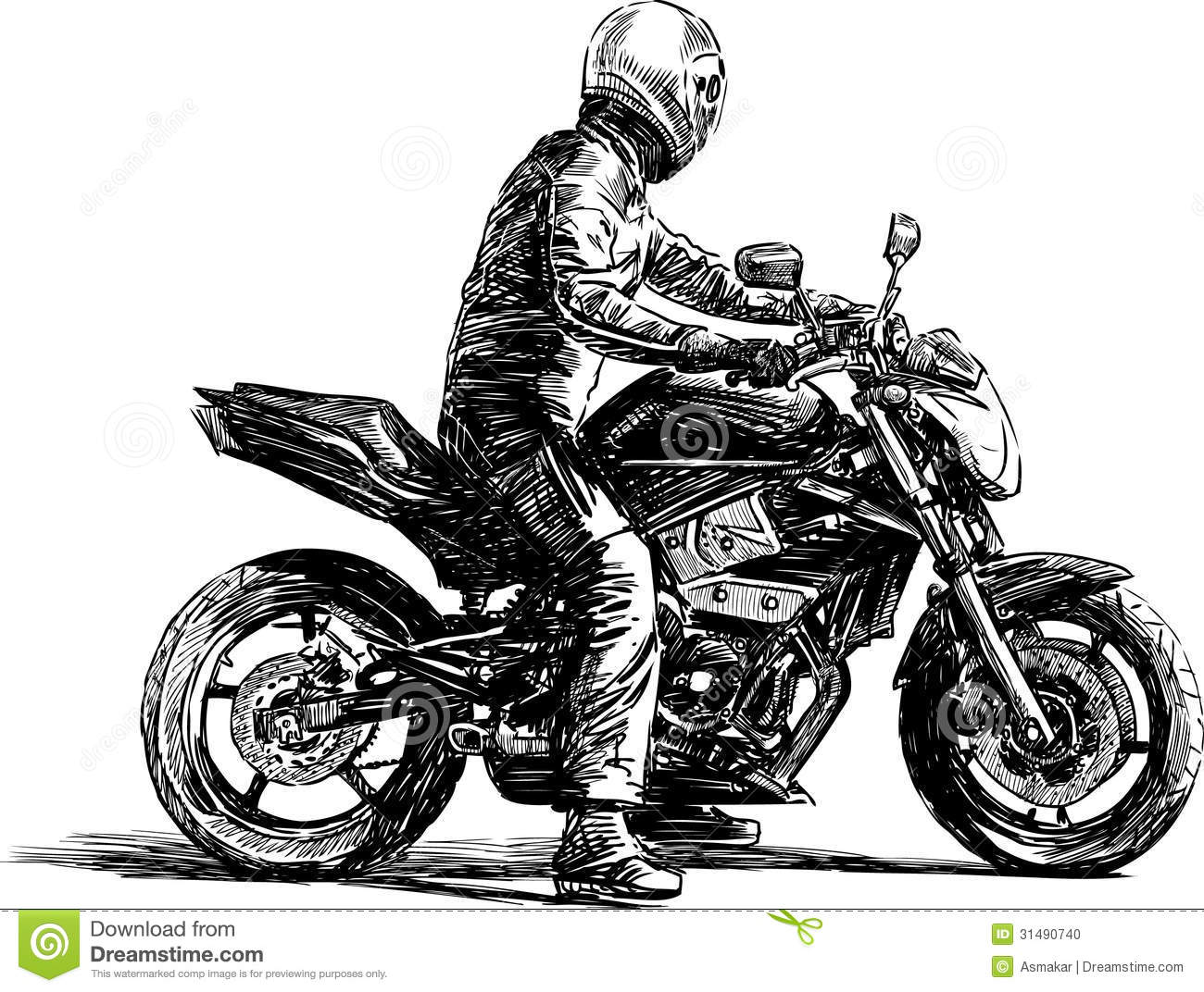 17 Motorcycle Man Vector Images