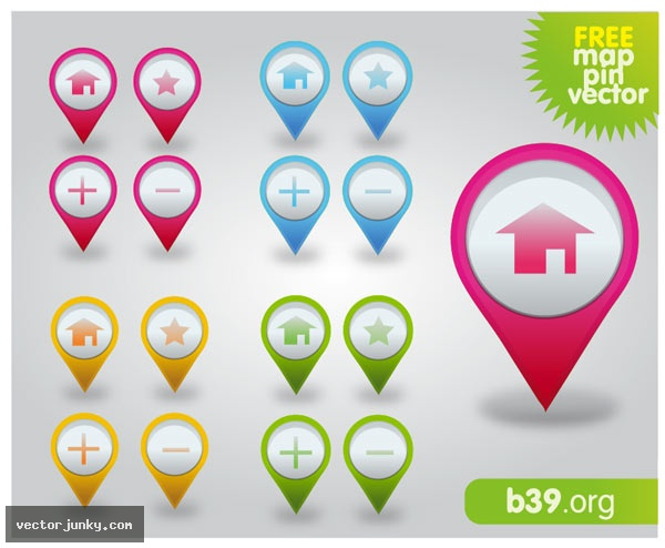 Free Google Maps Pointer Icon: Free Vector Map Icons, Google