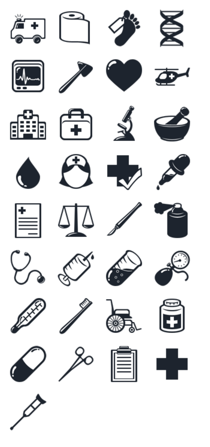 10 Medical Supplies Icon Images