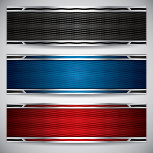 11 Metallic Vector Banners Images