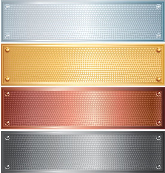 Metal Creative Vector Banners