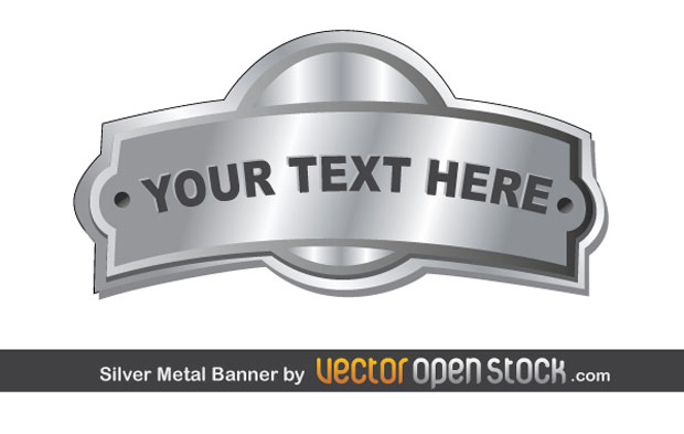 Metal Free Vector Art Banners