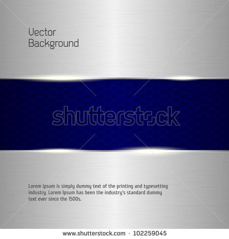 Metallic Silver Banner