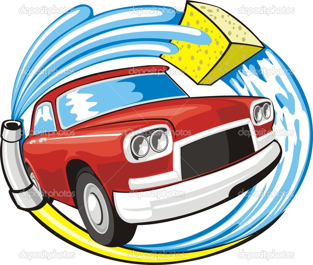 Mobile Car Wash Vector