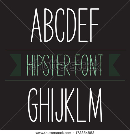 Modern Fonts Alphabet Letters