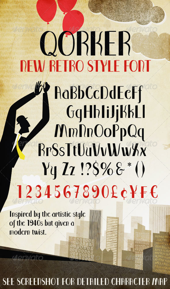 Modern Retro-Style Font
