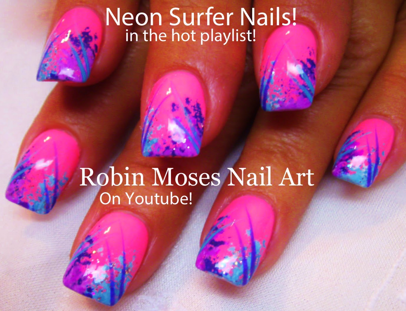 7 Neon Pink Nail Designs Images