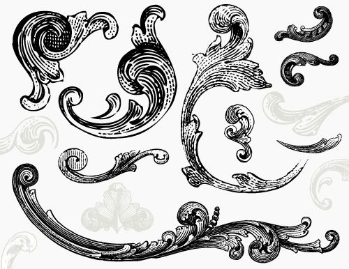 Ornament Engraved Vector