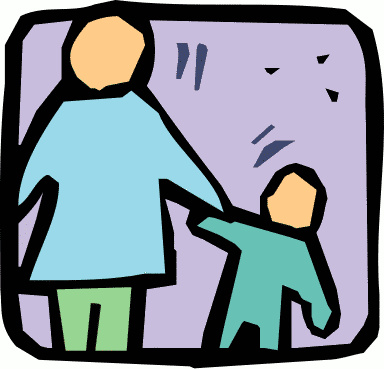 Parent and Child Clip Art