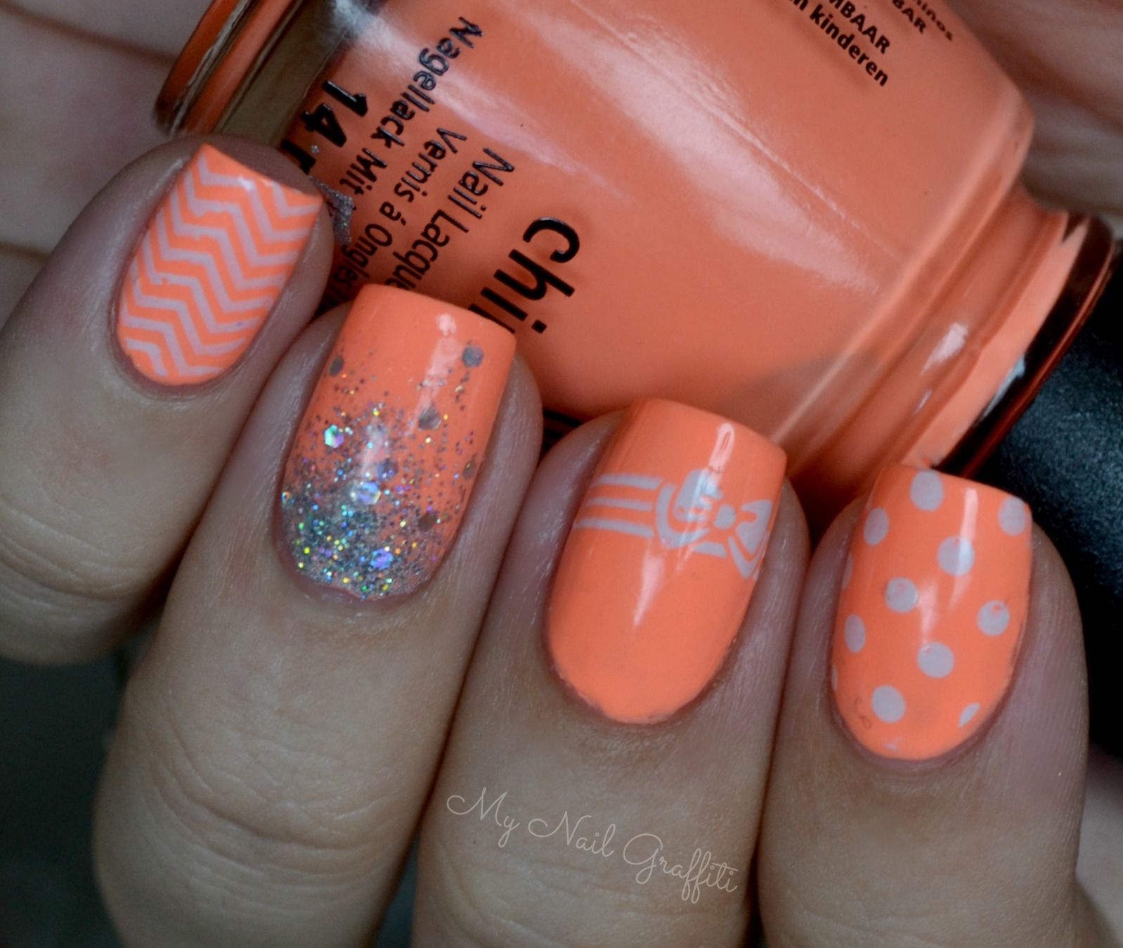 Peach Color Nail Designs - 16 Peach Nail Color Designs Images - Peach Color Nail Designs, Peach