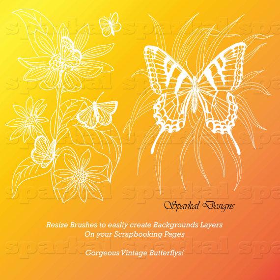 Photoshop Elements Clip Art Butterflies