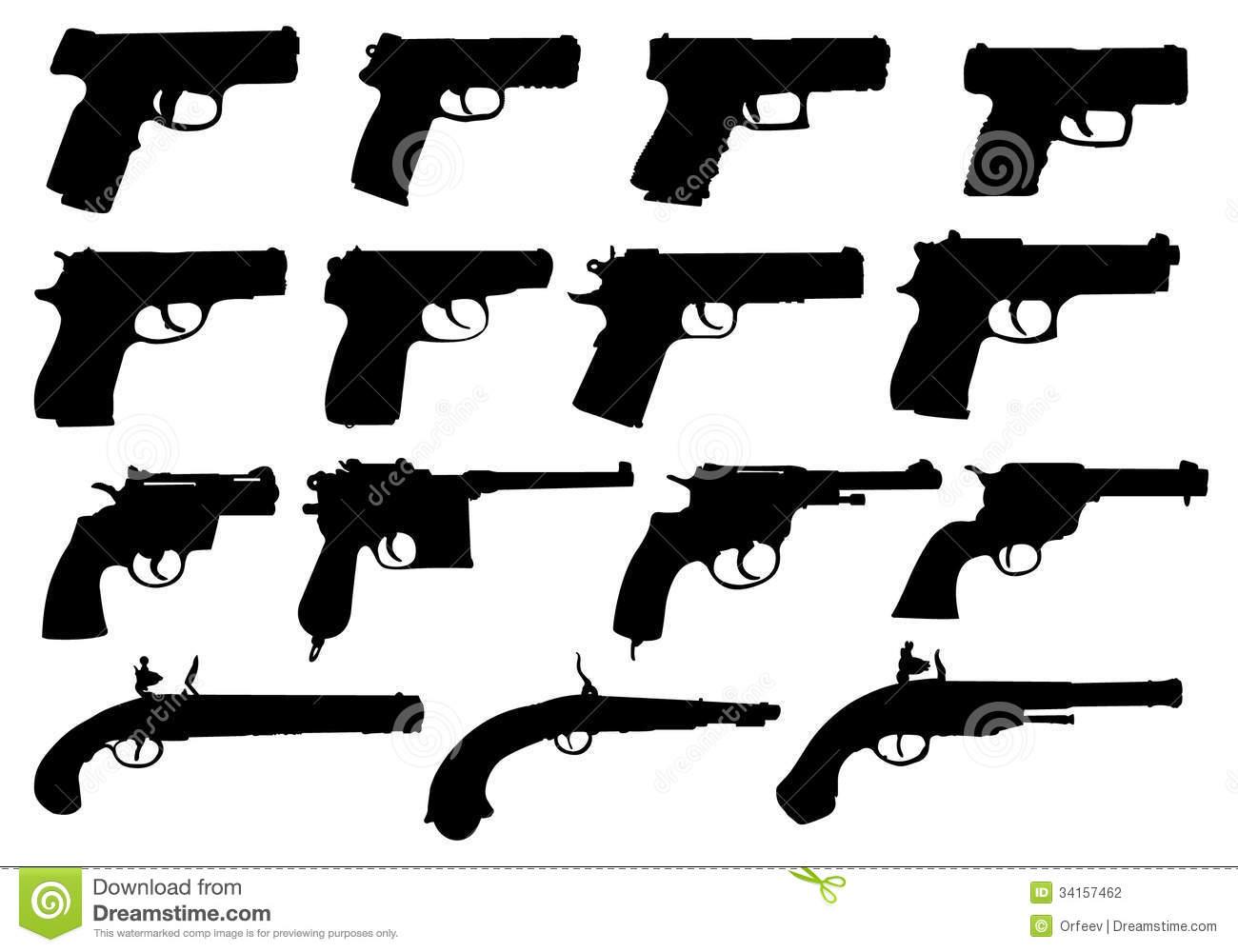 Pistol Silhouette Vector