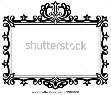 17 Black Ornate Frame Vector Images