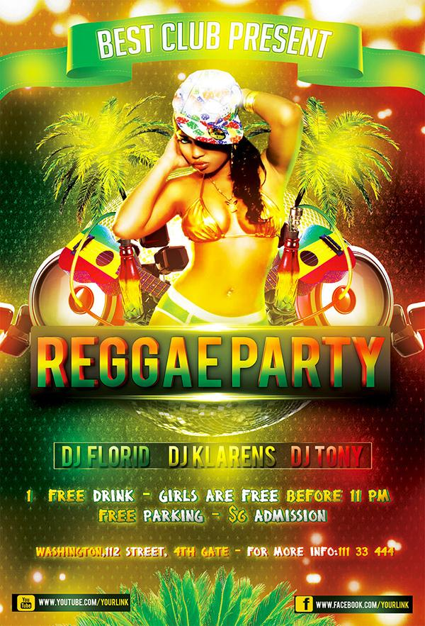 Reggae Party Flyer Template Free
