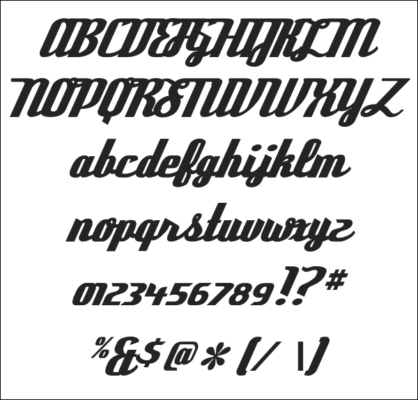 Pictures of 50s Retro Font - #rock-cafe
