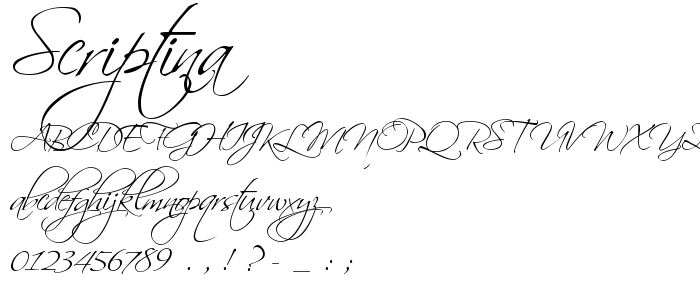 Scriptina Regular font