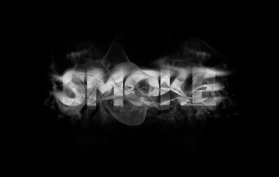 17 Smoke Typography Photoshop Images