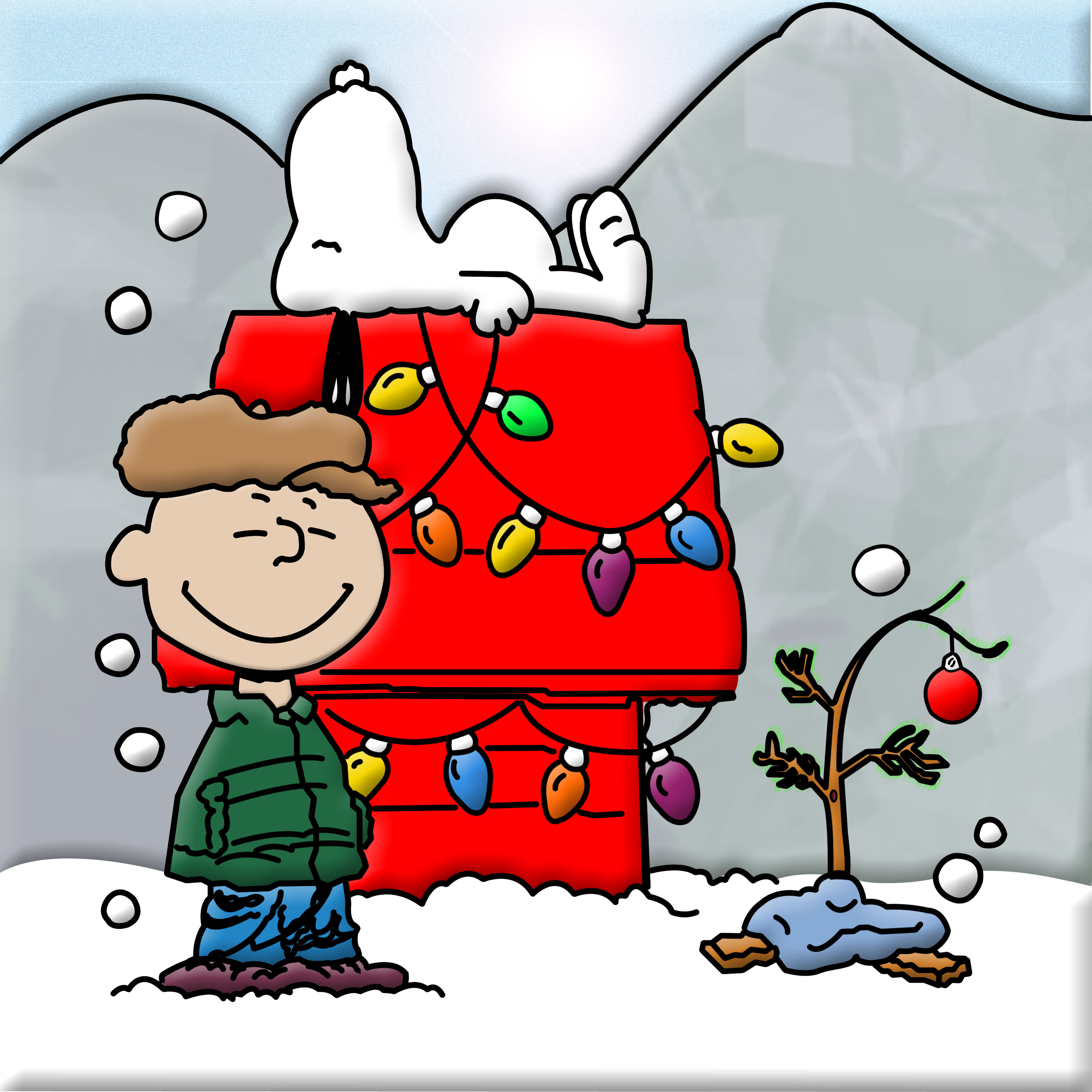 Snoopys Christmas.15 Snoopy Christmas Icons Images Snoopy And Charlie Brown