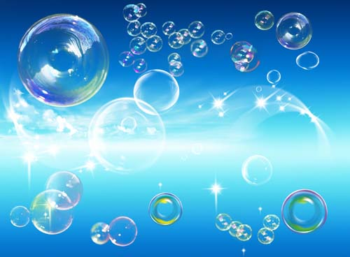 8 Water Bubbles PSD Images