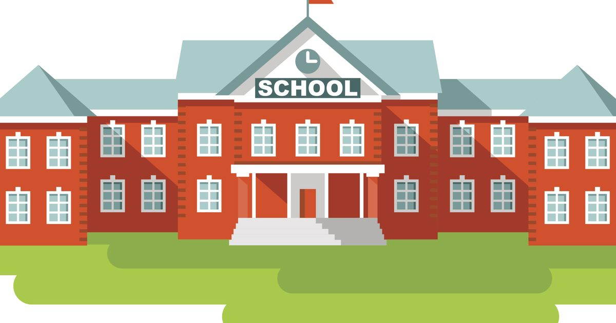 6 School Building Icon Images