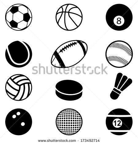 Sports Balls Vector Art