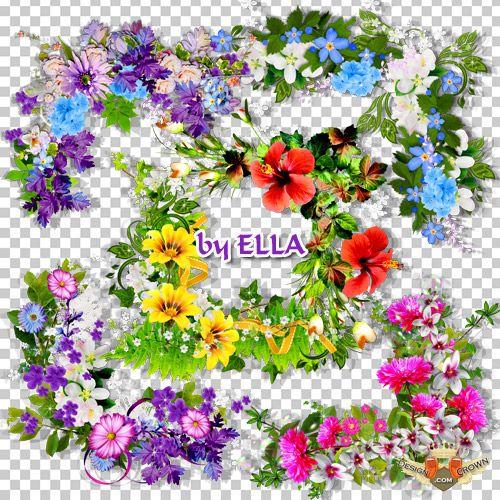 Spring Flowers Clip Art Photoshop