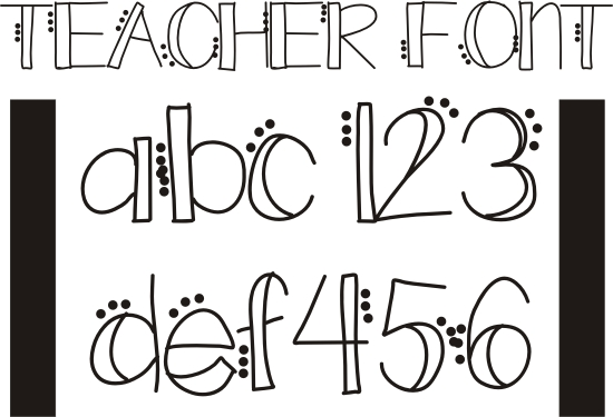 14 Cute Fonts To Draw Images