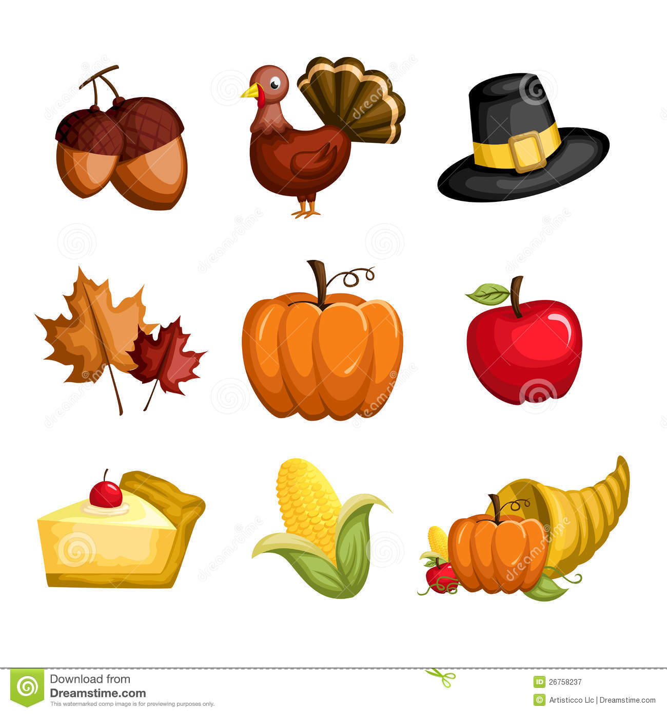 Thanksgiving Icons Free