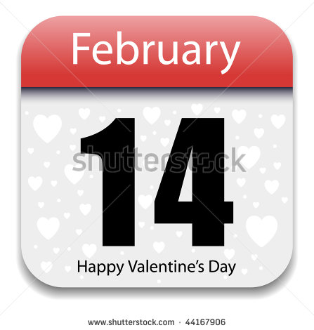 Valentine's Day Date Calendar