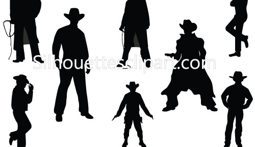 Wild West Cowboy Silhouettes