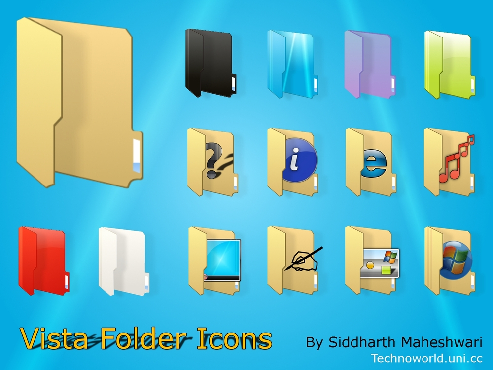 15 Yellow Windows Folder Icons Pack Images