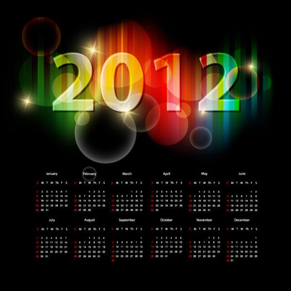 19 Vector 2012 Calendar Images