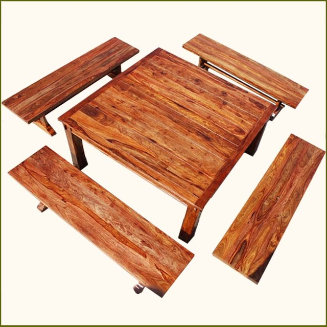 8 Person Square Dining Table Rustic