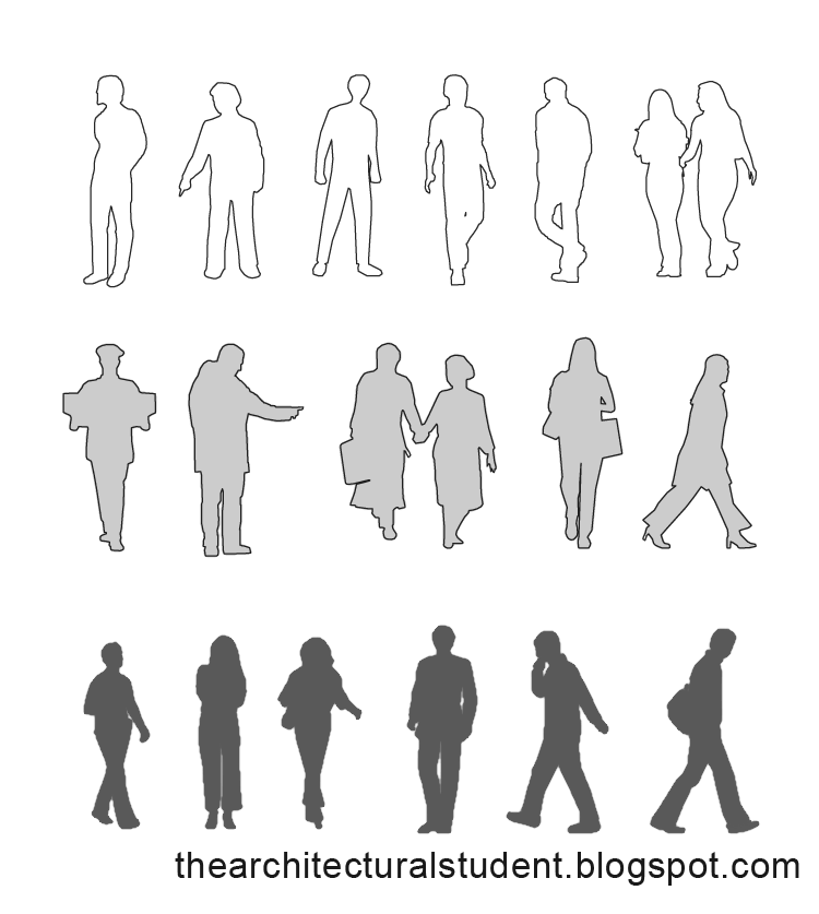 Architectural Scale People Sketch