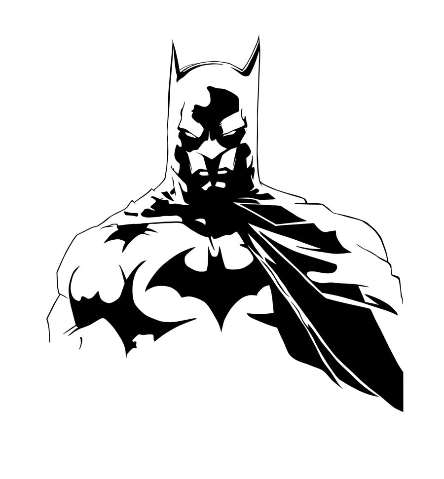 18 Batman Black And White Vector Images