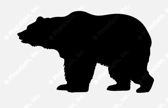 15 Black Bear Silhouette Vector Images