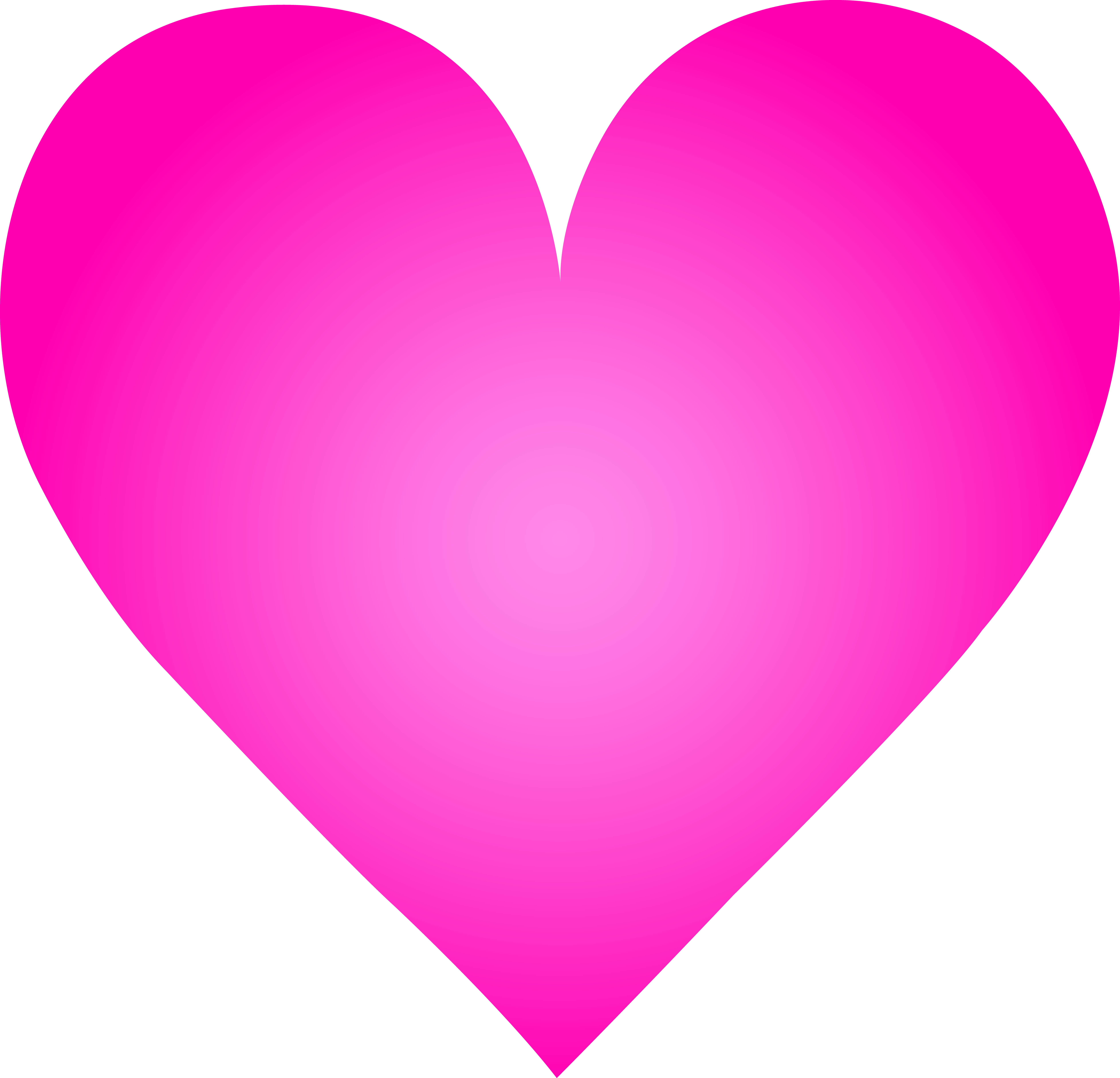 Big Pink Heart Clip Art